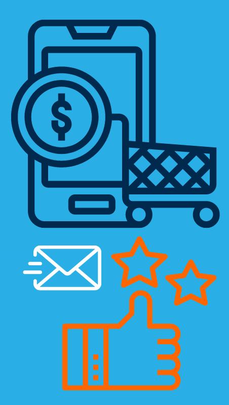 ecommerce marketing solution light blue