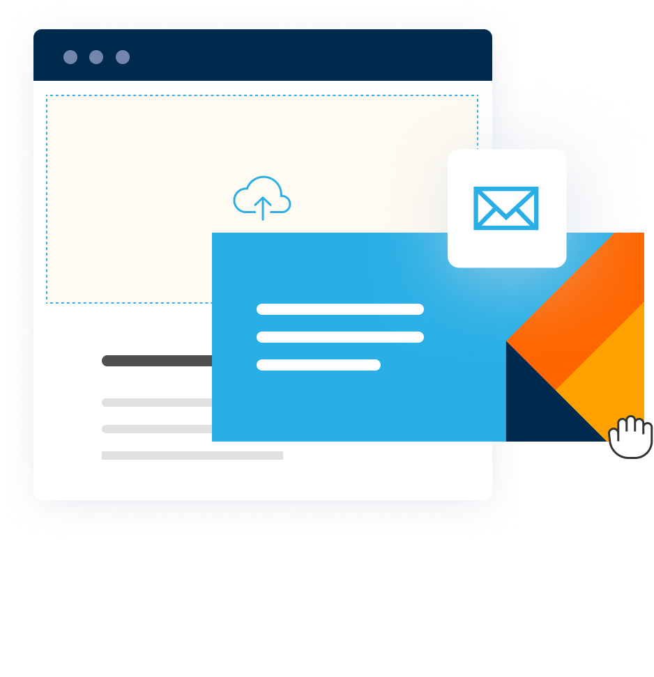 Email marketing drag and drop